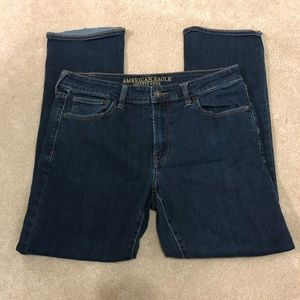 American Eagle Dark Blue Straight Stretch Jeans